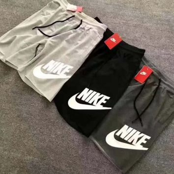 NIKE loose thin cotton wool Terry men five points big size shorts leisure sports
