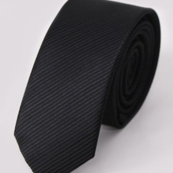 Streetstyle  Casual Formal Pinstripe Satin Tie For Men
