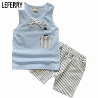 Summer Boys Clothing Sets Tank Top + Shorts Sleeveless Childrens Boy Clothes Set Toddler Clothing Suit Set Kids Clothes Vest
