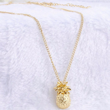 Gold Plated Pineapple  Necklace