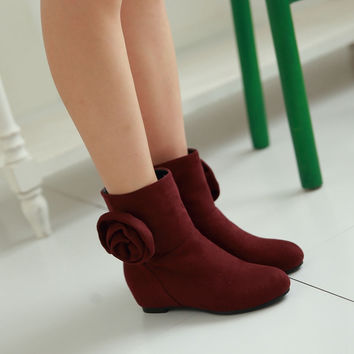 Flower Wedges Boots Women Shoes Fall|Winter 11191501