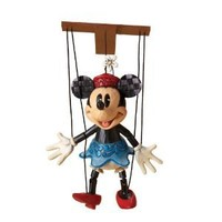 Disney Traditions designed by Jim Shore for Enesco Marionette Minnie Mouse Figurine 7.25 IN