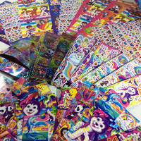 Lisa Frank stickers, Lisa Frank grab bag, sticker destash, sticker assortment, sticker obsession, bow stickers, small stickers
