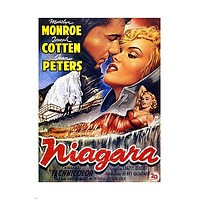 NIAGARA MOVIE POSTER Marilyn Monroe BLONDE MOVIE STAR 24X36 VINTAGE Sexy