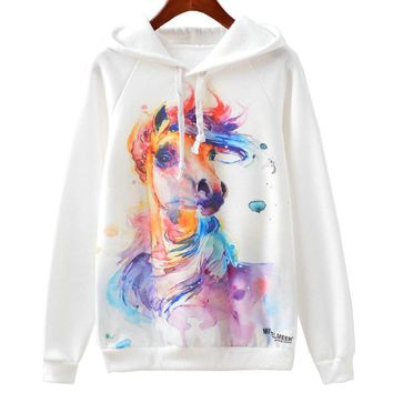 Colorful Horse - Women's Hoodie Sweater