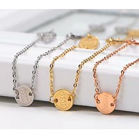 GUCCI Popular Necklace Simple Collarbone Chain Accessories Jewelry I-HLYS-SP