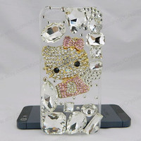 Crystal Cat  bling iPhone case,bling iphone 6 case,Crystal iphone 6 Plus,Rhinestone iphone 5/5S/5c,iphone 4 case samsung galaxy S3/S4/S5