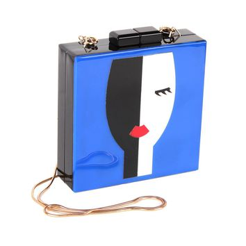 Designer Acrylic Evening Bags Unique Handbag Women Shoulder Bags Fashion Lady Face Clutch Bag Party Wedding Totes Purse