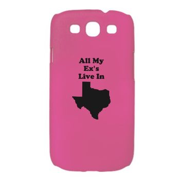 All My Exs Live In Texas Galaxy S3 Case