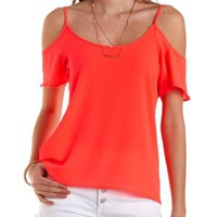Strappy Neon Swing Top by Charlotte Russe