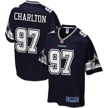Men's Dallas Cowboys Taco Charlton NFL Pro Line Navy Player Jersey