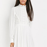 Crocheted High-Neck Dress