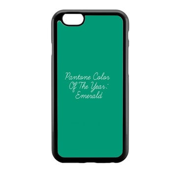 Pantone Emerald Color Of The Year iPhone 6 Case