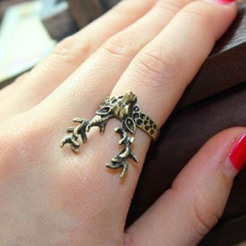 Fashion accessories vintage stereo sika deer ring finger ring personalized