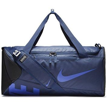 Nike Medium Duffel Duffle Gym Bag Alpha Adapt Crossbody Bag in Blue for Men and Women in Navy Blue and Black