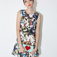 Butterfly Flared Dress