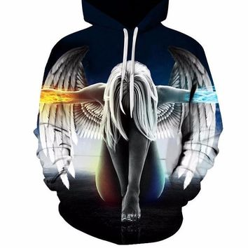 New angel Hoodies Men 3d Sweatshirt Hooded Anime Pullover Quality Brand Hoodies Printed Fashion Tracksuit Boy Jackets