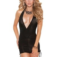 MINI DRESS WITH SCRUNCH SIDES