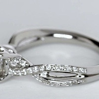 GIA certified 1.30ct Round Diamond Engagement Ring  JEWELFORME BLUE infinity