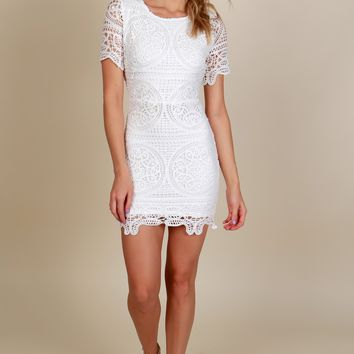 International Love Lace Dress White