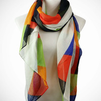 Adorn by Lulu- Geo Waves Scarf
