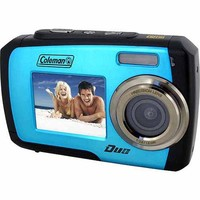 Coleman Blue Duo 2V7WP Waterproof Digital Camera with 14 Megapixels and 3x Digital Zoom - Walmart.com