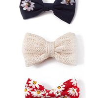 Daisy Dot Hair Clip Set