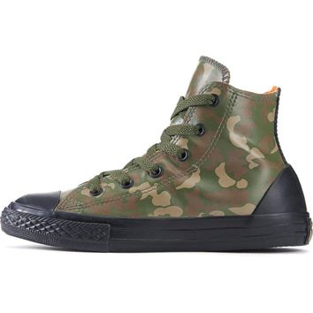 converse for kids chuck taylor all star rubber green camo sneakers