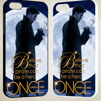 Once Upon a Time Captain Hook Believe F0542 iPhone 4S 5S 5C 6 6Plus, iPod 4 5, LG G2 G3, Sony Z2 Case