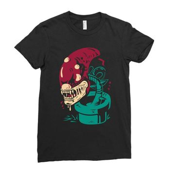 alien plant Ladies Fitted T-Shirt
