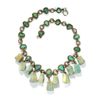 Antique Art Deco Silver Chinese Turquoise Necklace