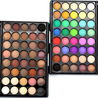 Professional Brand Makeup Lots Glitter Matte Eyeshadow 40color