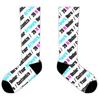 "11"" Custom Socks with Black Ends"