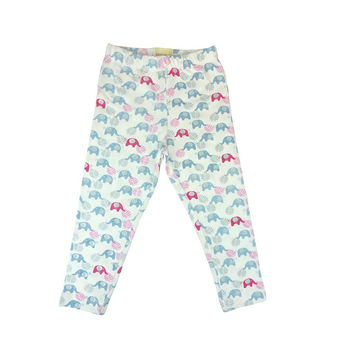 GIRL ORGANIC LEGGINGS - ELEPHANT PRINT CAPRI