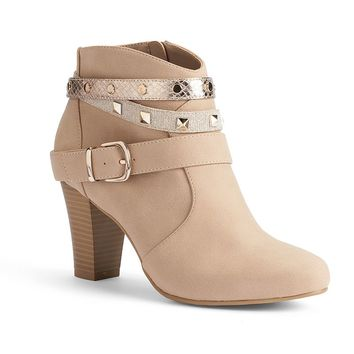 Jennifer Lopez Women's Studded Ankle Booties