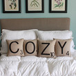 COZY Letter Pillows - Inserts Included