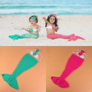 children elastic suit newborn baby photography make up dress suits mermaid cosplay suits costume playing