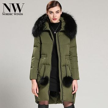 Womens Down Jackets Winter Warm And Stylish Down Coat Female Long White Duck Down Coat Hoodie Jacket Nordic Winds Online Shop
