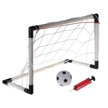 50CM Mini Football Soccer Goal Post Net Ball Pump Kid Child Indoor Outdooor Toy AP