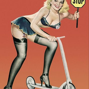Pinup Poster Blonde Pinup In Police Uniform