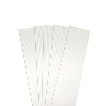 DALIX Ribbed Vertical Blinds Replacement Slats Off White Vinyl Window 5 Pack