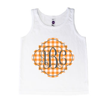 Monogram Orange Checkerboard - Tank