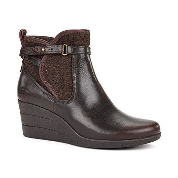 Ugg Women's Emalie Ankle-High Leather Boot  UGG boots women waterproof