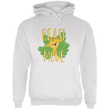 Beast Mode Cute Cheetah Cub Mens Hoodie
