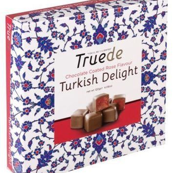 Rose Flavour Lux Chocolate Coated Truede Turkish Delight For Christmas Sweet