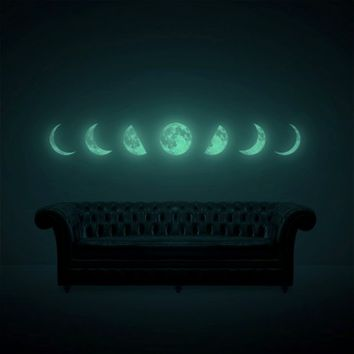 Moon Phase night-light wall-sticker (glow in the dark moon sticker) from i3 Lab. [i-cubed-lab] design studio | Made By i3Lab. [i-cubed-lab] | £58.60 | BOUF