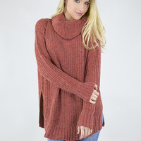 Cozy Morning Cowl Neck Sweater