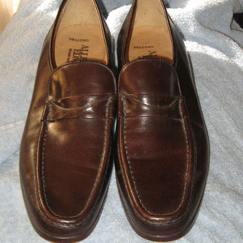 vintage brown leather mens  loafers  by  Allen Edmonds