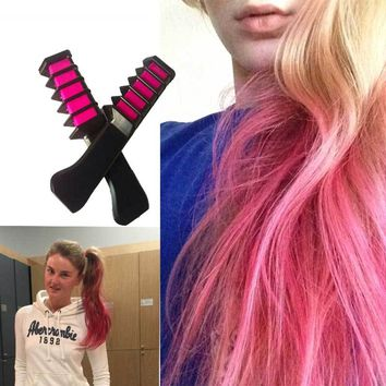 Hair Color Mascara 2017 New Hair Color Chalk Powder With Comb High Quality Temporary Blue Hair Mascara Multicolor Dye