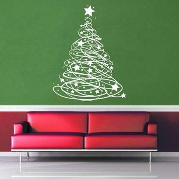 Starry - Christmas Tree - Wall Decal$19.95